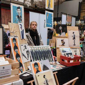 Annie Ryan's stall at Liverpool Print Fair November 2019