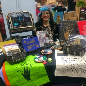 Another Realm's stall at Liverpool Print Fair November 2019