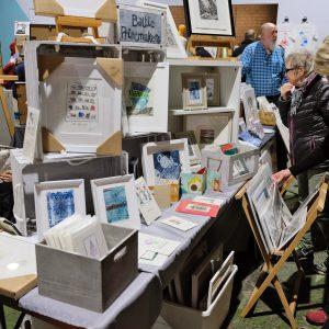 Baltic Printmaker's stall at Liverpool Print Fair November 2018