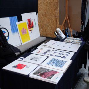 Birley Studio's stall at Liverpool Print Fair November 2018