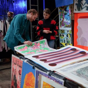 FAWW Gallery's stall at Liverpool Print Fair November 2019