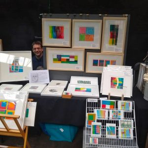 Higgs and Cowern's stall at Liverpool Print Fair November 2019