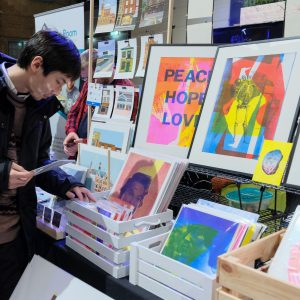 Vincent Patterson's stall at Liverpool Print Fair November 2019